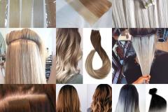Predlžovanie vlasov Tape in pásky
